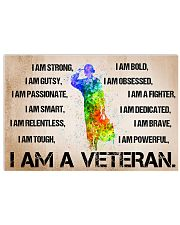 I AM A BRAVE VETERAN 17x11 Poster front