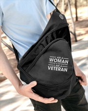 SHE SERVED IN THE MILITARY Sling Pack garment-embroidery-slingpack-lifestyle-08
