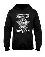 VETERAN AND GRANDMA Hooded Sweatshirt front