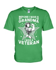 VETERAN AND GRANDMA V-Neck T-Shirt thumbnail