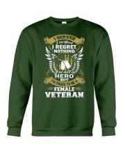 PROUD FEMALE VETERAN Crewneck Sweatshirt front