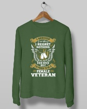 PROUD FEMALE VETERAN Crewneck Sweatshirt lifestyle-unisex-sweatshirt-front-10