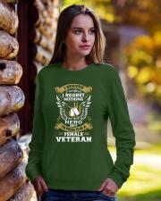 PROUD FEMALE VETERAN Crewneck Sweatshirt lifestyle-unisex-sweatshirt-front-7