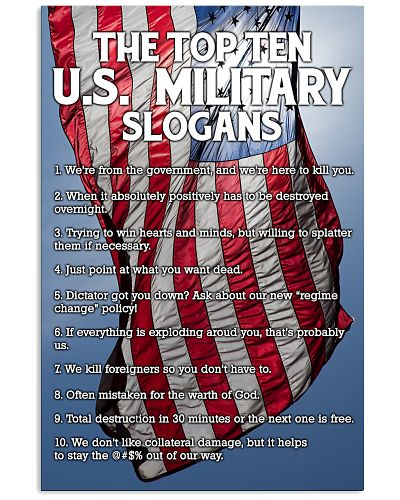 THE MILITARY SLOGANS