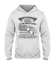 PROUD ARMY VETERAN Hooded Sweatshirt front