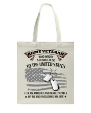 PROUD ARMY VETERAN Tote Bag thumbnail