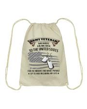 PROUD ARMY VETERAN Drawstring Bag thumbnail