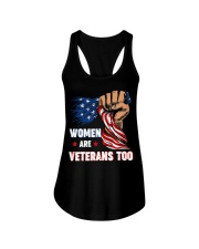 WOMEN ARE VETERANS TOO Ladies Flowy Tank thumbnail