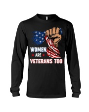 WOMEN ARE VETERANS TOO Long Sleeve Tee thumbnail