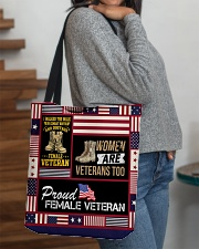 PROUD AMERICAN VETERANS All-over Tote aos-all-over-tote-lifestyle-front-09