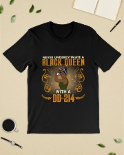 BLACK QUEEN WITH A DD-214 Classic T-Shirt lifestyle-mens-crewneck-front-19