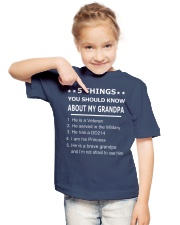 5 THING YOU SHOULD KNOW ABOUT MY GRANDPA Youth T-Shirt lifestyle-youth-tshirt-front-2