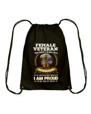 FEMALE VETERAN EDITION FRONTSIDE Drawstring Bag thumbnail