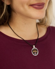 GOD FOUND SOME OF THE STRONGEST WOMEN Cord Circle Necklace aos-necklace-circle-cord-lifestyle-1