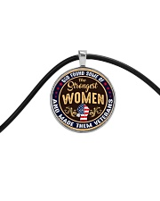 GOD FOUND SOME OF THE STRONGEST WOMEN Cord Circle Necklace front