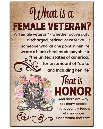 WHAT IS A FEMALE VETERAN