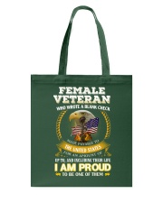 FEMALE VETERAN EDITION Tote Bag thumbnail
