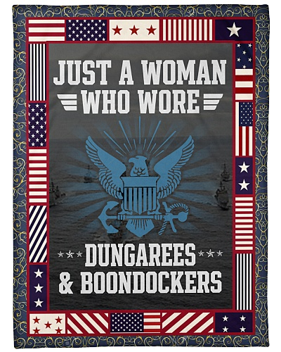 JUST A WOMAN WHO WORE DUNGARES AND BOONDOCKERS