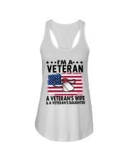 VETERAN VET'S WIFE DAUGHTER Ladies Flowy Tank thumbnail