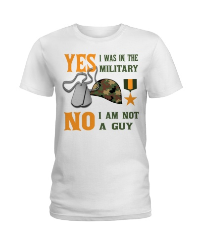 IM IN THE MILITARY BUT IM NOT A GUY