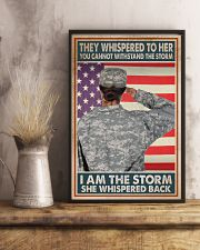 SHE IS THE STORM 11x17 Poster lifestyle-poster-3