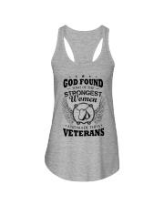 GOD CREATED WOMEN VETERANS Ladies Flowy Tank thumbnail