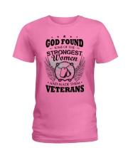 GOD CREATED WOMEN VETERANS Ladies T-Shirt tile