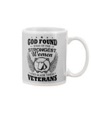 GOD CREATED WOMEN VETERANS Mug tile