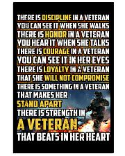 THE STRENGTH IN THE VETERAN'S HEART 16x24 Poster front