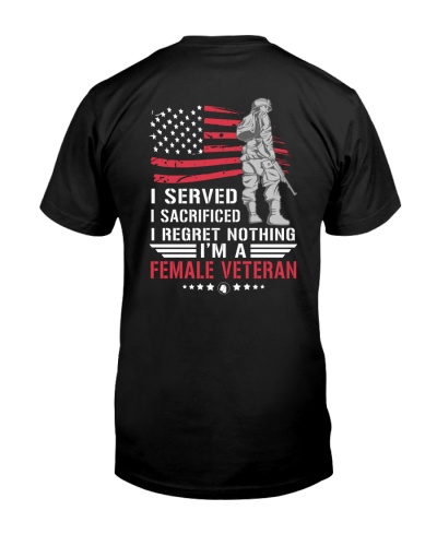 FEMALE VETERANS REGRET NOTHING