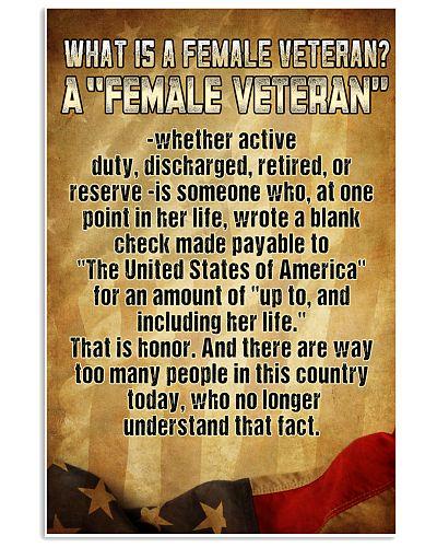 WHAT IS A FEMALE VETERAN