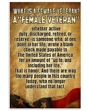 WHAT IS A FEMALE VETERAN 11x17 Poster front