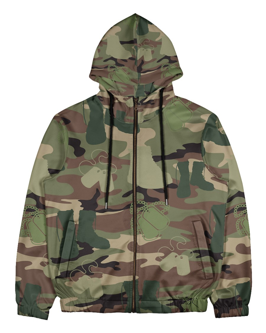PROUD TO HAVE SERVED Men's All Over Print Full Zip Hoodie