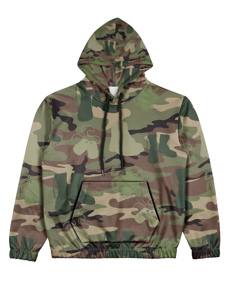 PROUD TO HAVE SERVED Women's All Over Print Hoodie