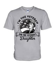 VETERAN AND VETERAN'S DAUGHTER V-Neck T-Shirt thumbnail