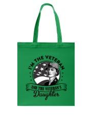 VETERAN AND VETERAN'S DAUGHTER Tote Bag thumbnail