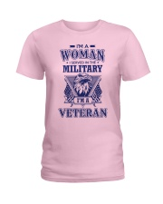 I AM A VETERAN Ladies T-Shirt front