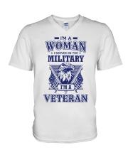 I AM A VETERAN V-Neck T-Shirt thumbnail