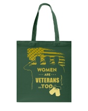 WOMEN ARE VETERANS TOO Tote Bag thumbnail