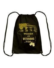 WOMEN ARE VETERANS TOO Drawstring Bag thumbnail