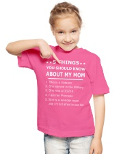 5 THING YOU SHOULD KNOW ABOUT MY MOM Youth T-Shirt lifestyle-youth-tshirt-front-2
