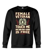 FEMALE VETERAN Crewneck Sweatshirt thumbnail