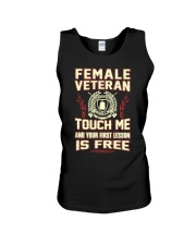 FEMALE VETERAN Unisex Tank thumbnail