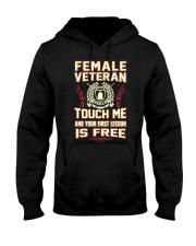FEMALE VETERAN Hooded Sweatshirt thumbnail
