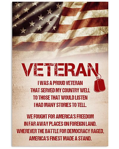 VETERAN SERVED THIS COUNTRY WELL