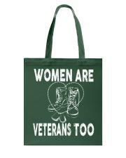 WOMEN ARE VETERAN TOO Tote Bag thumbnail