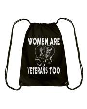 WOMEN ARE VETERAN TOO Drawstring Bag thumbnail