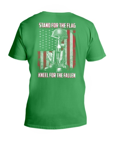 STAND FOR THE FLAG KNEEL FOR THE FALLEN BACKSIDE