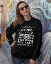 Toledo girl  i cant be held for Crewneck Sweatshirt lifestyle-unisex-sweatshirt-front-3