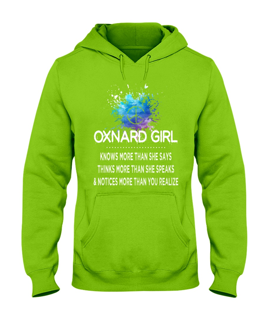 Oxnard girl knows more than Hooded Sweatshirt